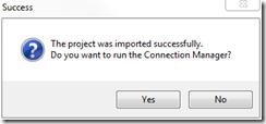 Project Import Dialog V